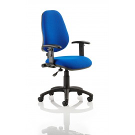 Eclipse I Lever Task Operator Chair Blue With Height Adjustable Arms