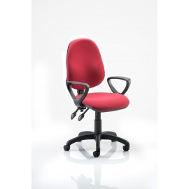 Eclipse II lever Task Operator Chair Wine With Loop Arms