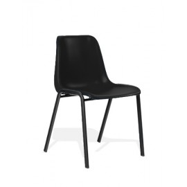 Polly Stacking Visitor Chair Black Polypropylene