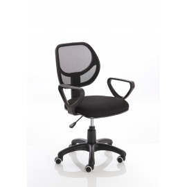 Meshlet Black Mesh Executive Chair with Arms
