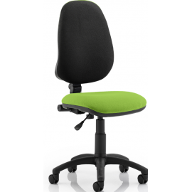 Eclipse I Lever Task Operator Chair Bespoke Colour Seat Swizzle