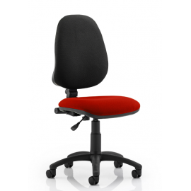 Eclipse I Lever Task Operator Chair Bespoke Colour Seat Pimento