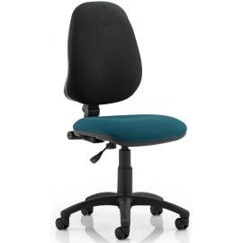 Eclipse I Lever Task Operator Chair Bespoke Colour Seat Kingfisher