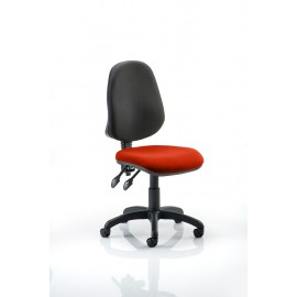 Eclipse II Lever Task Operator Chair Bespoke Colour Seat Pimento