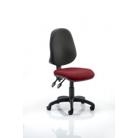 Eclipse II Lever Task Operator Chair Bespoke Colour Seat Chilli