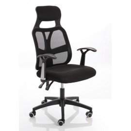 Symbol Executive High Back Mesh Black Chair With Arms