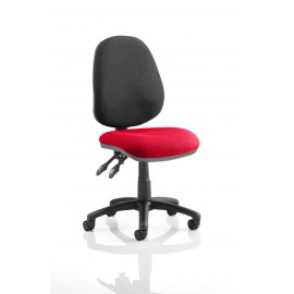 Luna II Lever Task Operator chair bespoke Colour Seat Cherry