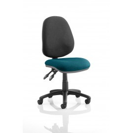 Luna II Lever Task Operator chair bespoke Colour Seat Kingfisher
