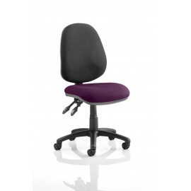 Luna II Lever Task Operator chair bespoke Colour Seat Purple