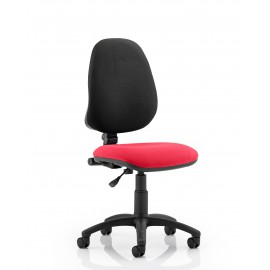 Eclipse I Lever Task Operator Chair Bespoke Colour Seat Cherry