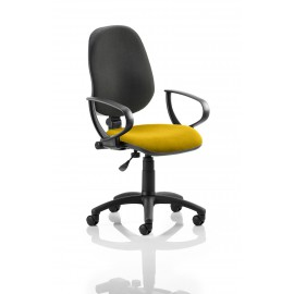 Eclipse I Lever Task Operator Chair Back Bespoke Seat With Loop Arms In Sunset