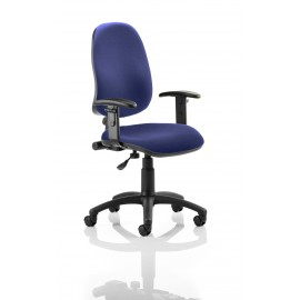 Eclipse I Lever Task Operator Chair Bespoke With Height Adjustable Arms In Serene