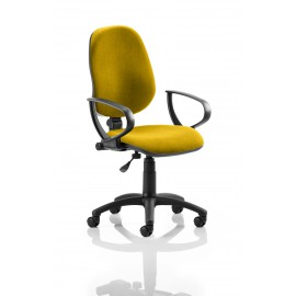 Eclipse I Lever Task Operator Chair Bespoke With Loop Arms In Sunset