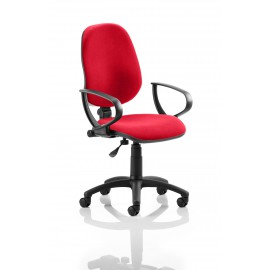 Eclipse I Lever Task Operator Chair Bespoke With Loop Arms In