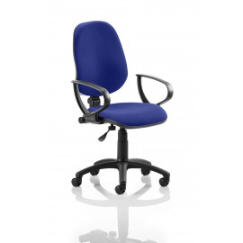 Eclipse I Lever Task Operator Chair Bespoke With Loop Arms In Serene