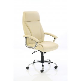Penza Executive White and Cream Leather Chair