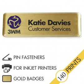The Mighty Badge™ Corporate Pack [Gold] [Pin Fastener] for InkJet Printers