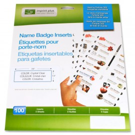 The Mighty Badge™ Bright White Opaque Inserts [100 pack]
