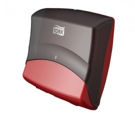 Tork Folded Wiper and Cloth Dispenser Black and Red 654008