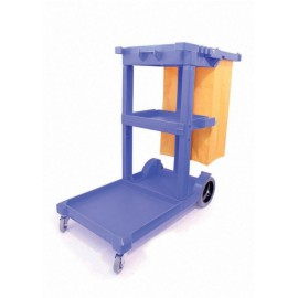 Multipurpose Janitorial Trolley Blue W500xD970xH1140mm 312477