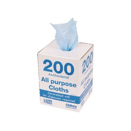 Blue Antibacterial Cloths on a Roll 220 x 370mm Pack of 200 100247BU