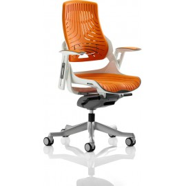 Zure Executive Chair Elastomer Orange With Arms