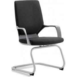 Xenon Visitor Cantilever Black Chair Black Fabric With Arms