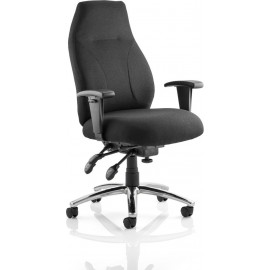 Torsion Task Operator Chair Black Fabric With Arms