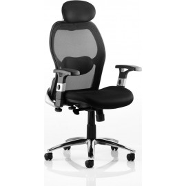Sanderson Executive Chair Black Airmesh Seat With Mesh Back With Arms