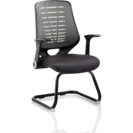Relay Visitor Cantilever Airmesh Seat Silver Back With Arms