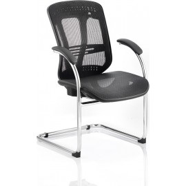 Mirage Visitor Cantilever Black Mesh With Arms