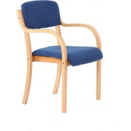 Madrid Visitor Chair Blue With Arms