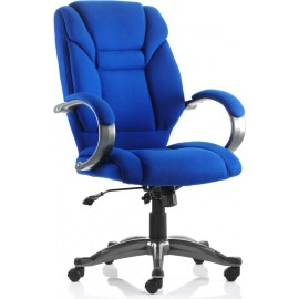 Galloway Executive Chair Blue Fabric With Arms