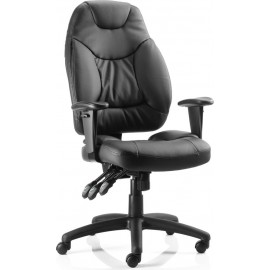 Galaxy Task Operator Chair Leather With Arms