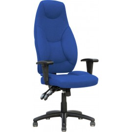 Galaxy Task Operator Chair Blue Fabric High Back With Arms