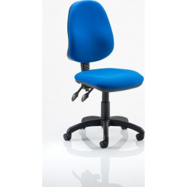 Eclipse II Lever Task Operator Chair Blue Without Arms