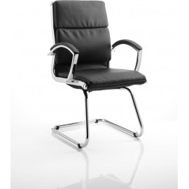 Classic Visitor Cantilever Chair Black With Arms