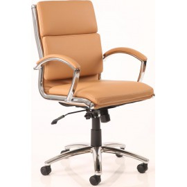 Classic Executive Chair Tan With Arms Medium Back