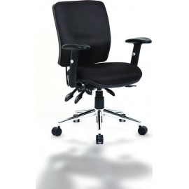 Chiro Task Operators Chair Black With Arms Medium Back