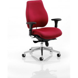 Chiro Plus Ergo Posture Chair Wine Red With Arms