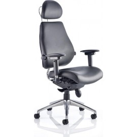 Chiro Plus Ultimate Leather With Arms With Headrest