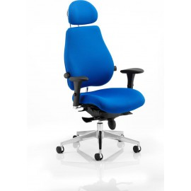 Chiro Plus Ultimate Blue With Arms With Headrest