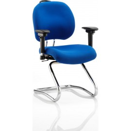 Chiro Plus Cantilever Chair Blue With Arms
