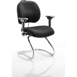 Chiro Plus Cantilever Chair Black With Arms