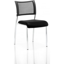 Brunswick Visitor Chair Without Arms Chrome Frame