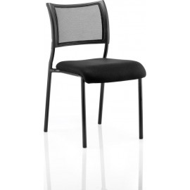 Brunswick Visitor Chair Without Arms Black Frame