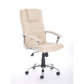 Thrift Executive Chair Cream Leather With Arms
