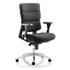 Aura Task Operator Chair Black Fabric With Arms