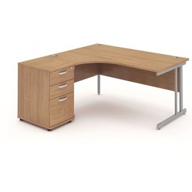 Impulse Cantilever Workstation with 600mm Pedestal