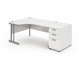 Impulse Panel End Workstation with 800mm Pedestal